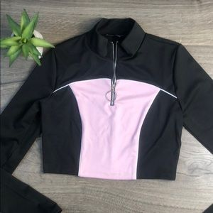 One Clothing Crop Athletic Quarter Zip Nordstrom